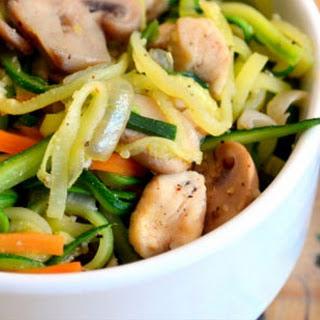Veggie Noodles And Chicken