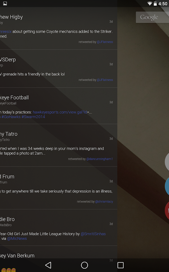 Talon (Blur Launcher Page)- screenshot