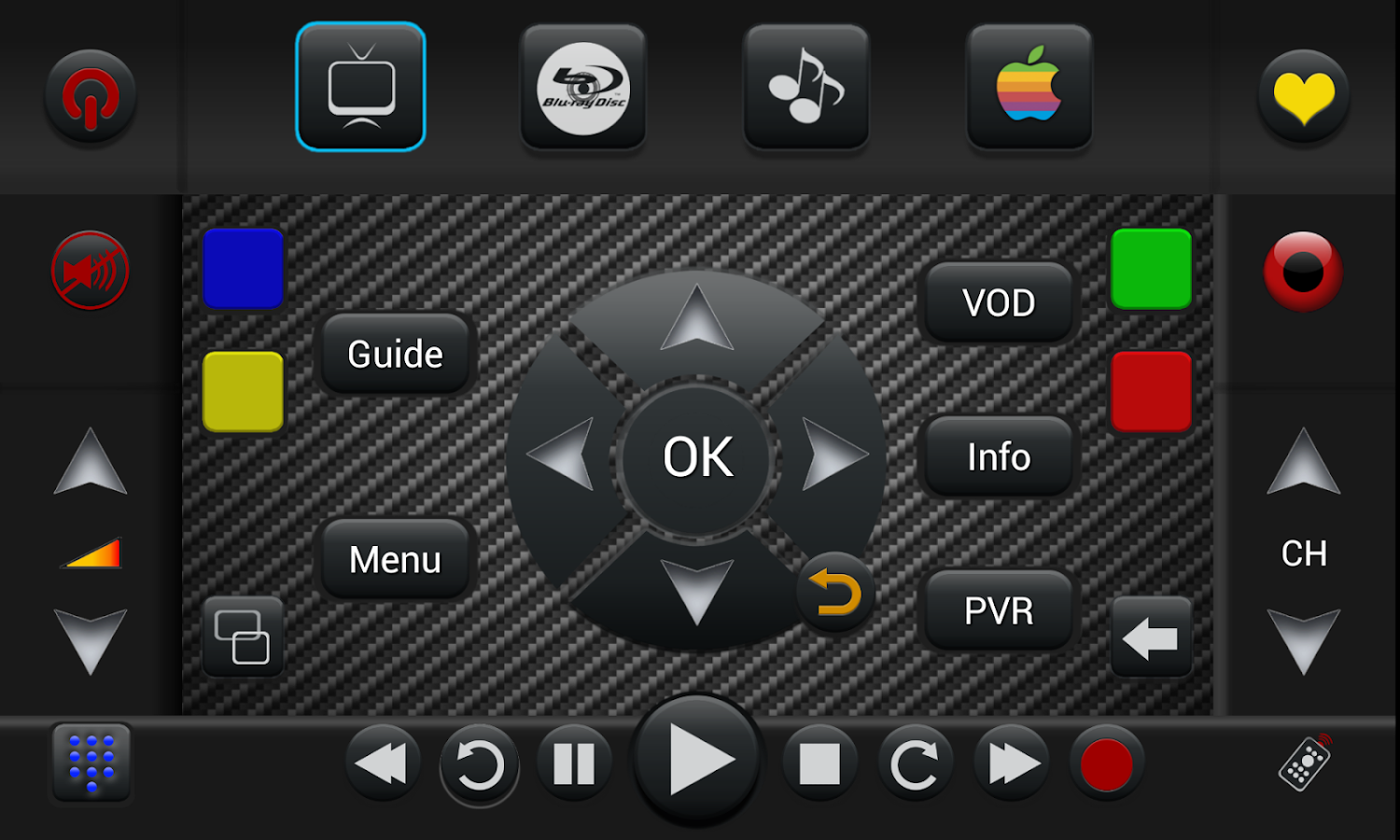 Samsung PRO Universal Remote - screenshot