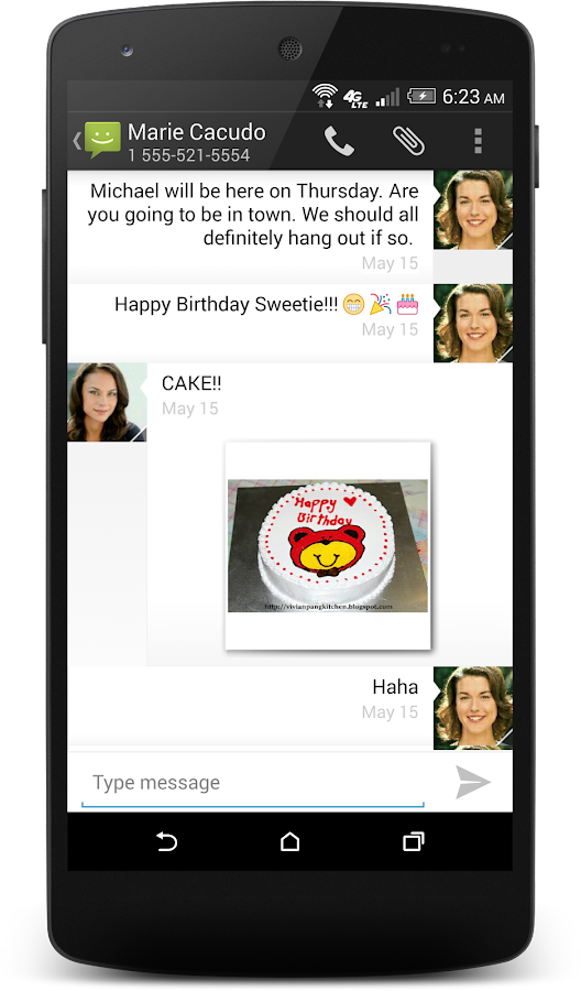 Messaging- screenshot