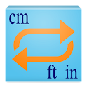Height Converter feet-inch cm icon