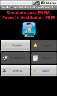 Simulado ENEM Vestibular FREE: miniatura da captura de tela