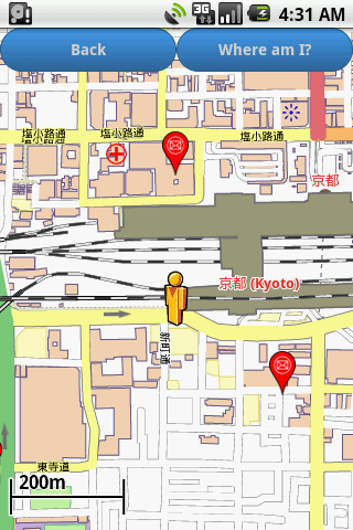 Kyoto Amenities Map free