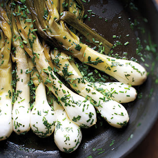Butter-Braised Spring Onions with Lots of Chives