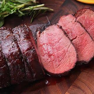 Slow-Roasted Beef Tenderloin.