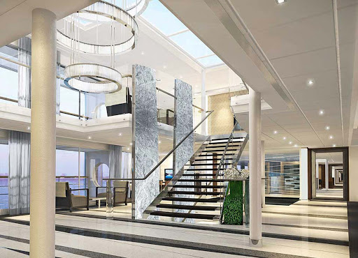 Viking-Longship-Foyer-2 - The spacious, contemporary foyer of Viking's Longships evokes elegance and style.