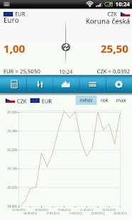 Kurzy měn: Kalkulačka - screenshot thumbnail