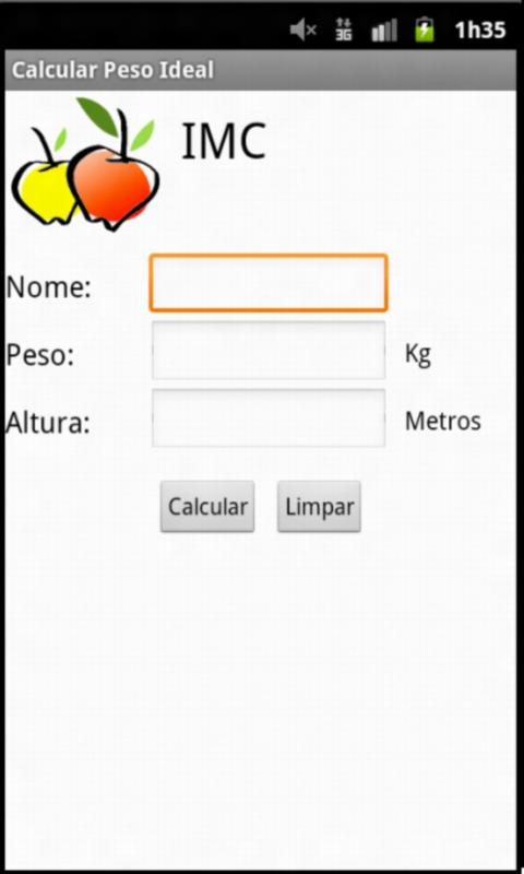 Calcular Peso Ideal - screenshot