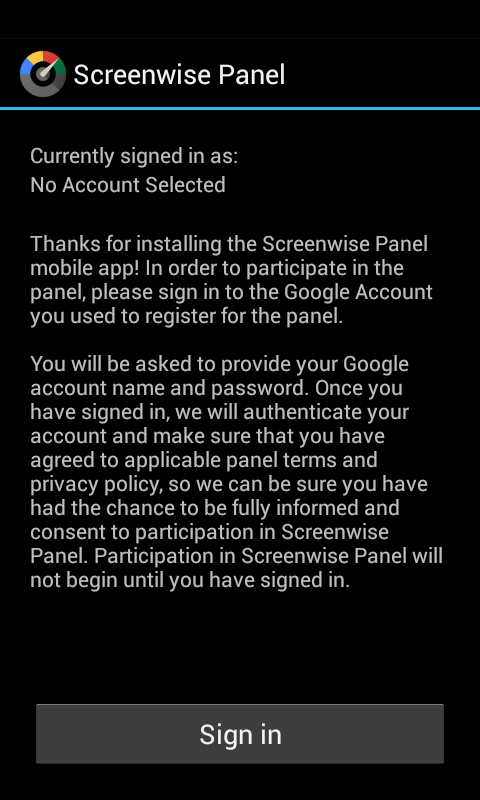 Screenwise Panel - screenshot