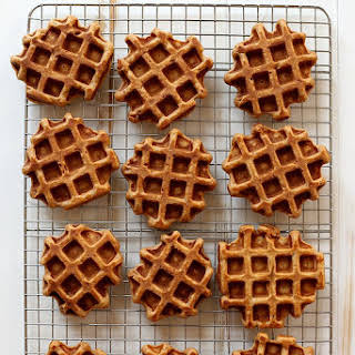 Vanilla Bean Sweet Potato Waffles.