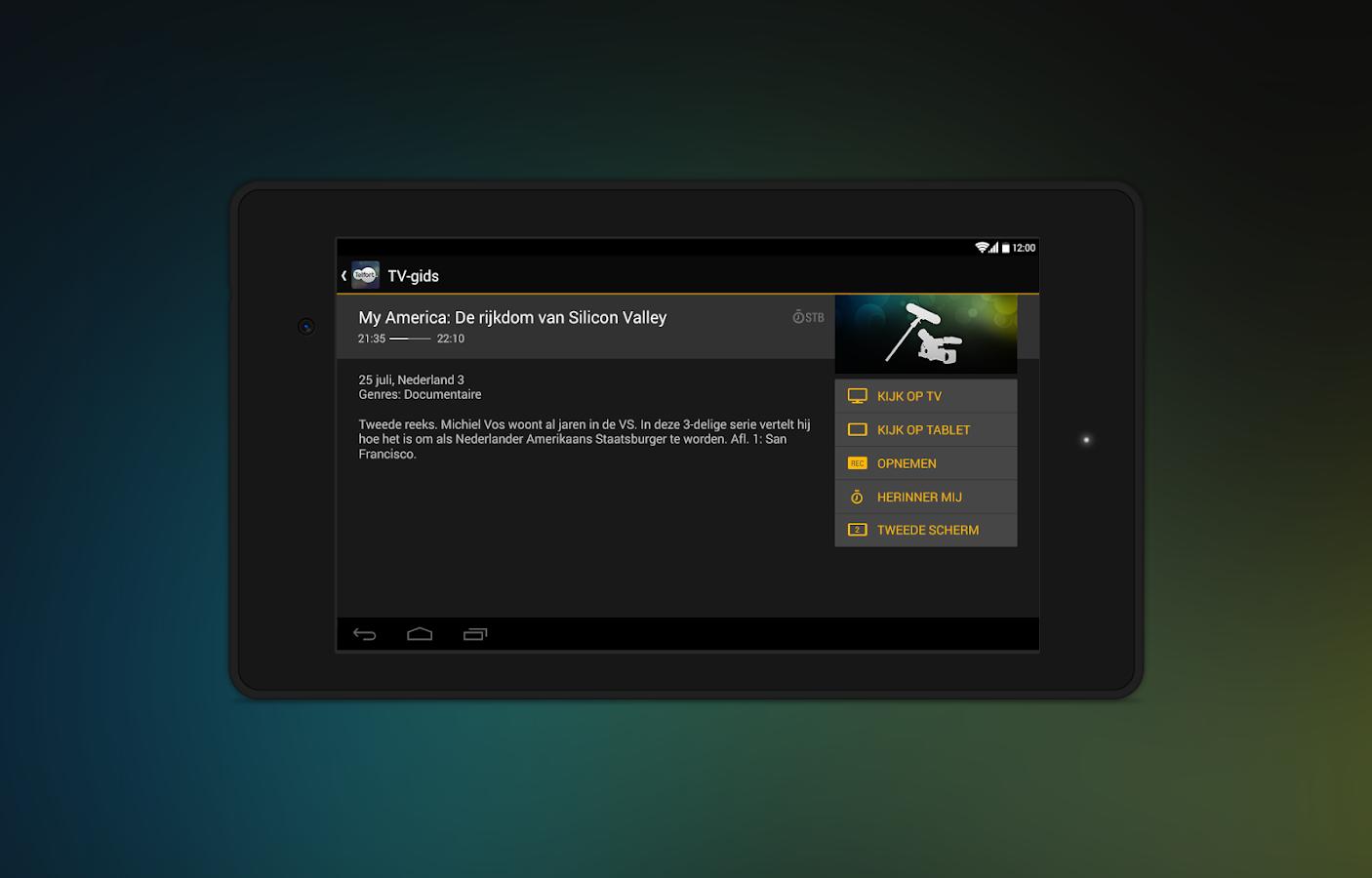Telfort Glasvezel TV - screenshot