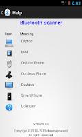 Screenshot of Bluetooth Scanner