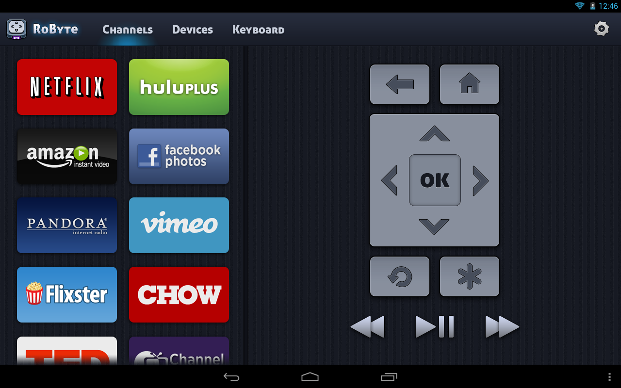 Roku Remote - RoByte Trial - screenshot