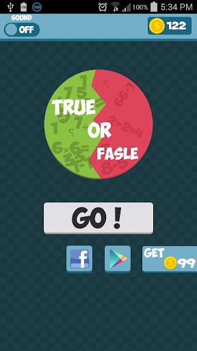 True Or False - Math