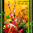 New Years Decorations. LWP icon