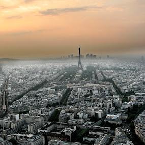 Paris from Montparnasse Tower by Jesús Sánchez Ibáñez - City,  Street & Park  Skylines ( pwcskylines )