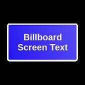 Billboard Screen Text