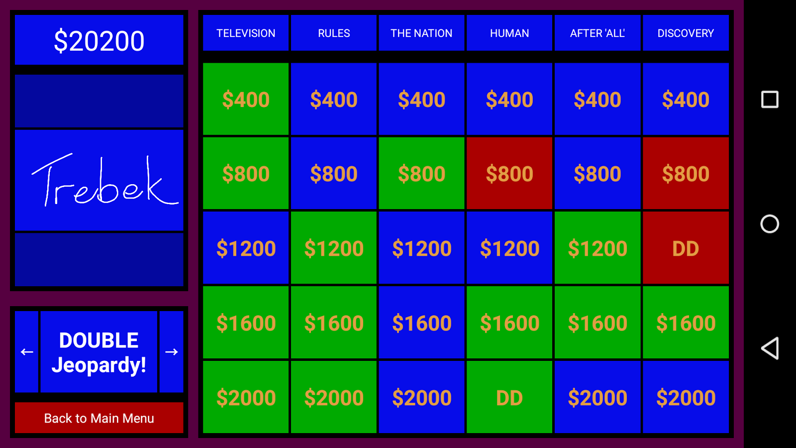 Jeopardy - Keep Score with TV- screenshot