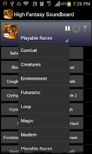 High Fantasy Soundboard- screenshot thumbnail
