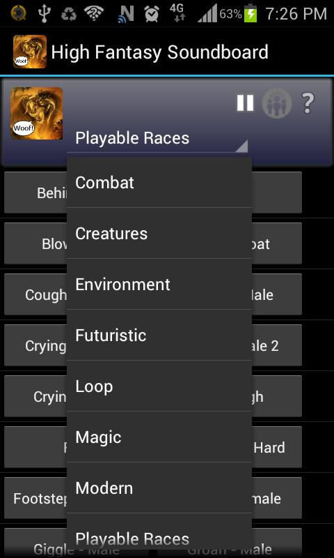 High Fantasy Soundboard- screenshot