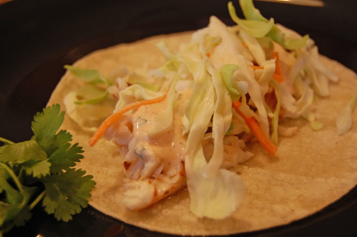 Fish Tacos with Chipotle Dressing Recipe