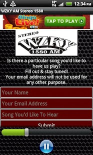 WZKY AM Stereo 1580 - screenshot thumbnail