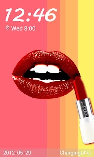 Lipstick Go Locker theme - screenshot thumbnail