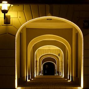 street hallway by Oleg Verjovkin - Buildings & Architecture Architectural Detail ( riga, street, old town, hallway, latvia )
