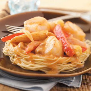 Scallops with Thai Sauce.