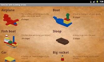 Screenshot of Vehicles with building bricks