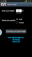 Screenshot of Weight Diary Ideal weight