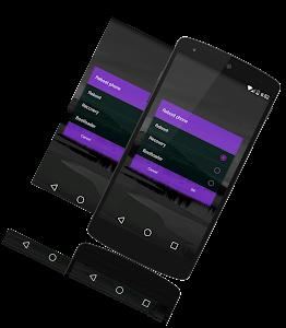 Purple transulent CM/PA theme v1.5