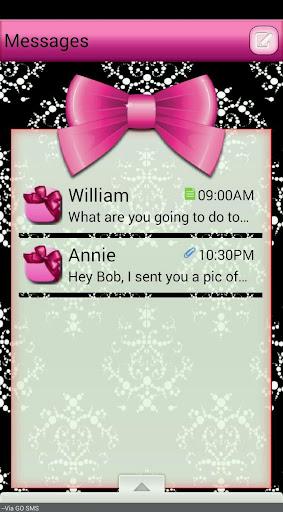 SatinBows GO SMS THEME