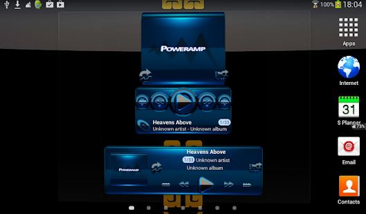 Poweramp widget BLACK BLUE