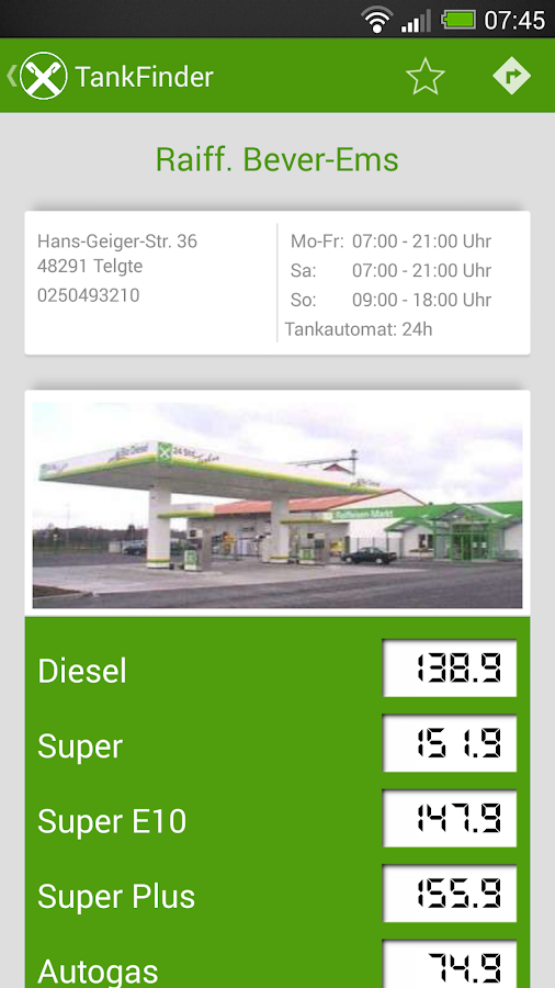 Tanken - Raiffeisen TankFinder - screenshot