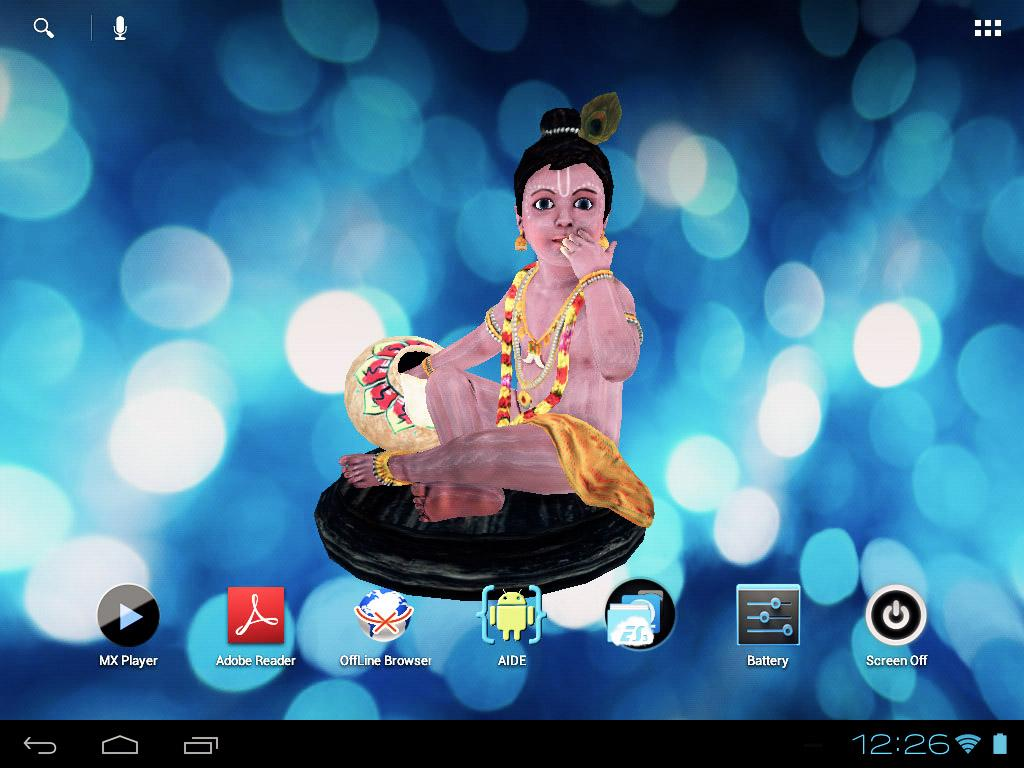 3D Bal Krishna Live Wallpaper - screenshot