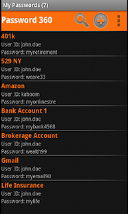 Password 360 Lite - screenshot thumbnail