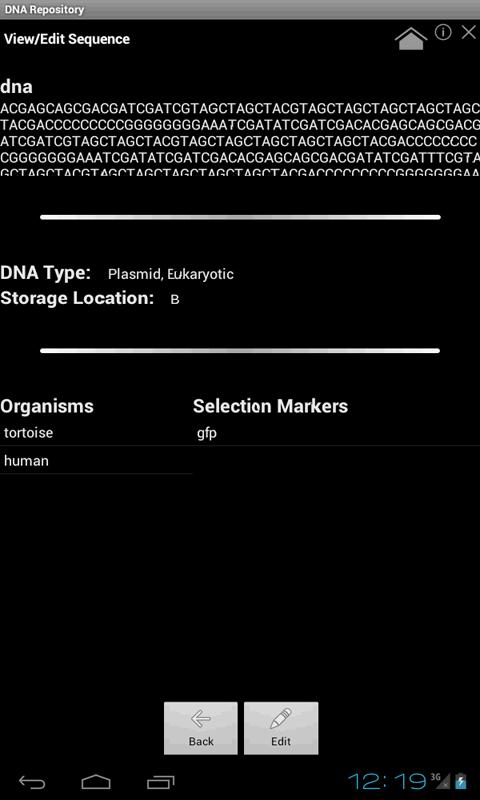 DNA Repository- screenshot