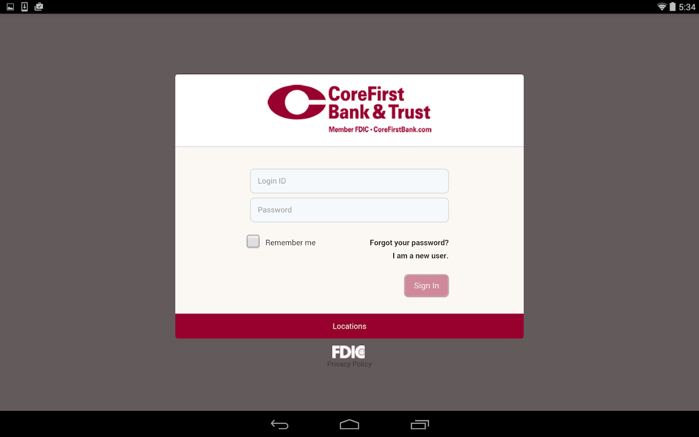 CoreFirst Bank & Trust Mobile- screenshot