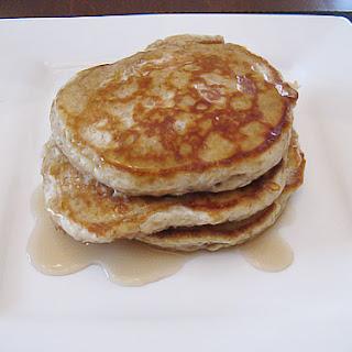 Whole Grain Apple Oatmeal Pancakes.