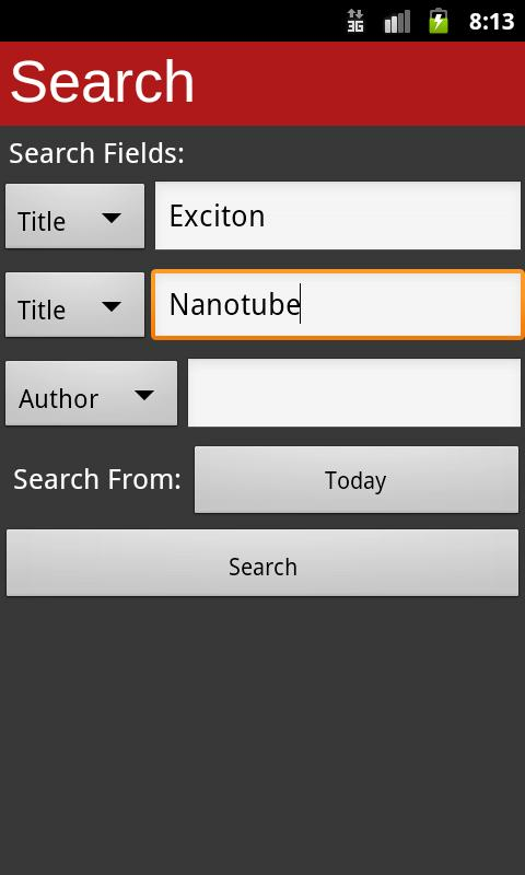 arXiv mobile- screenshot