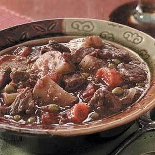 Baked Beef Stew (tapioca and marjoram)