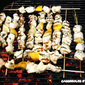 Chicken Skewers with Lemon and Rosemary