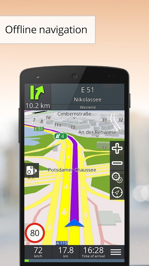 GPS Navigation BE-ON-ROAD- screenshot