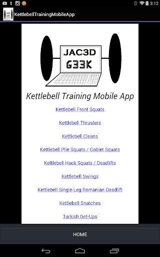 G33K's Kettlebell Phone App