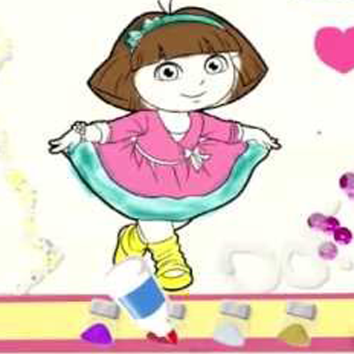 Playtime With Coloring Dora