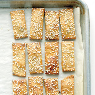 Cheesy Chickpea and Sesame Crackers.