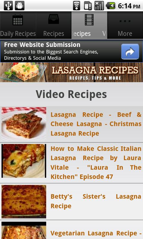 Lasagna Recipes!- screenshot