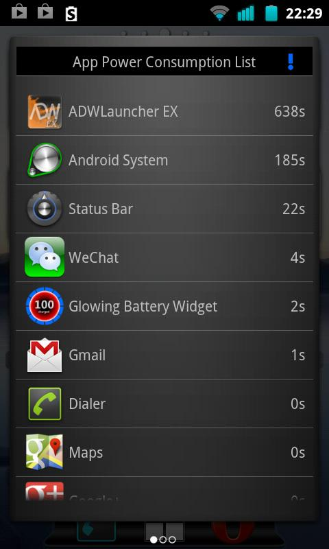 Glowing Battery Saver - screenshot