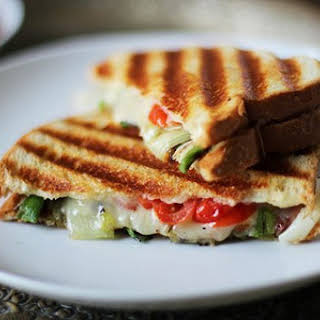 South African Cheese, Grilled Onion & Tomato Panini (Braaibroodjie).